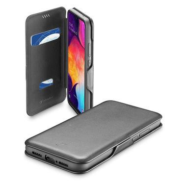 Cellularline Book Clutch - Galaxy A41 Custodia a libro con chiusura di sicurezza magnetica Nero