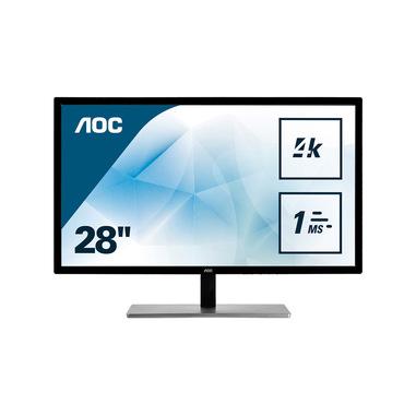 "AOC 79 Series U2879VF Monitor PC 71,1 cm (28"") 3840 x 2160 Pixel 4K Ultra HD LCD Nero, Argento"