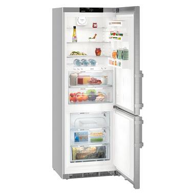 Liebherr CBNef 5735 frigorifero con congelatore Libera installazione Argento 381 L A+++