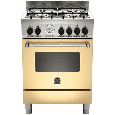 Bertazzoni La Germania Americana AMN604GEVSCRT Piano cottura Gas A+ Crema, Acciaio inossidabile cucina