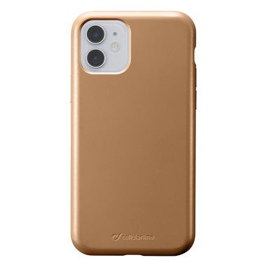 Cellularline Sensation - iPhone 11 Custodia in silicone soft touch Bronzo
