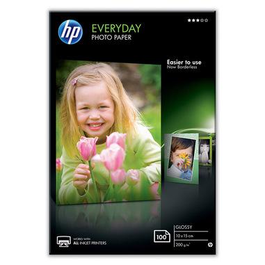 HP Confezione da 100 fogli carta fotografica lucida Everyday 10 x 15 cm