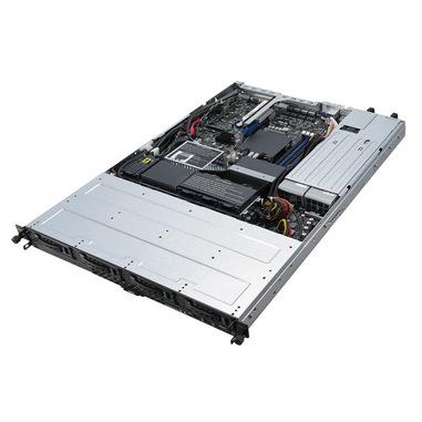 ASUS RS300-E10-RS4 Intel C242 LGA 1151 (Presa H4) Rack (1U) Nero, Metallico