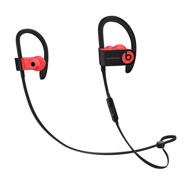 Beats Powerbeats3 Aggancio, Auricolare Stereofonico Senza fili Nero, Rosso auricolare per telefono cellulare