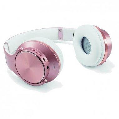 Conceptronic CHSPBTNFCSPKR Padiglione auricolare Stereofonico Cablato/NFC (Comunicazione in prossimità)/Bluetooth Oro rosa auricolare per telefono cellulare