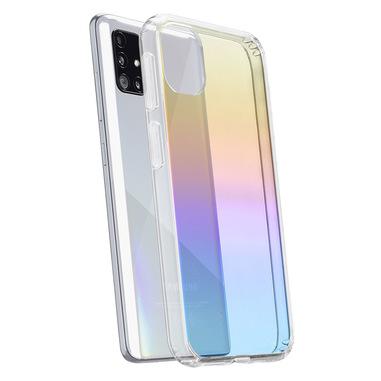 Cellularline Prisma - Galaxy A71 Custodia semi-trasparente con effetto iridescente Trasparente