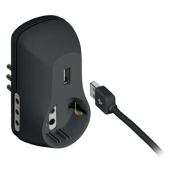 bticino adattatore 2 prese 10A, 1 tedesca, 1 USB