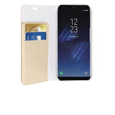 Phonix Custodia a Libro in Ecopelle Sparkling per Samsung Galaxy S8 Plus - Oro