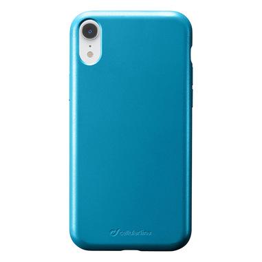 Cellularline Sensation - iPhone XR Custodia in silicone soft touch Petrolio