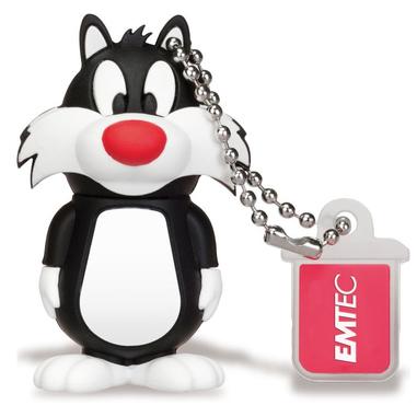 Emtec 8GB USB2.0 L101 LT Silvestro 8GB USB 2.0 Nero, Bianco USB flash drive