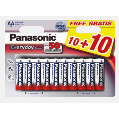 Panasonic LR6EPS/20BW household battery Single-use battery AA 1,5 V