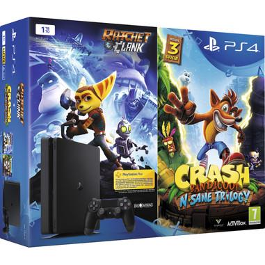 Sony PS4 1TB chassis E + Ratchet & Clank + Crash Bandicoot: N'Sane Trilogy