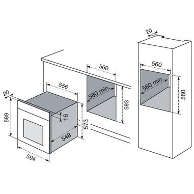 Electrolux rob 2100 aow forno forni da incasso in offerta su unieuro - Forno da incasso dimensioni ...