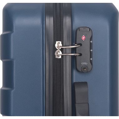 Electroline set di valigie trolley rigide, piccola media e grande