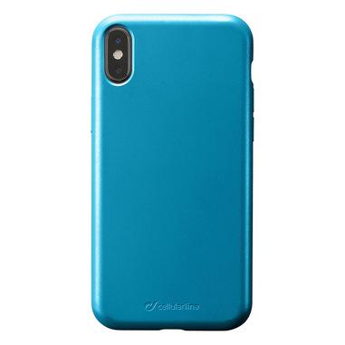 Cellularline Sensation - iPhone XS/X Custodia in silicone soft touch Petrolio