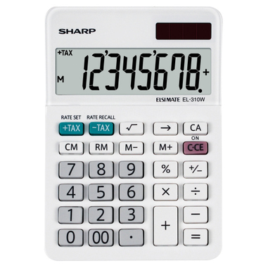 Sharp EL-310W calcolatrice Scrivania Calcolatrice finanziaria Bianco
