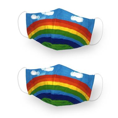 Kanguru Green Mask Set 2 pezzi Kid Rainbow