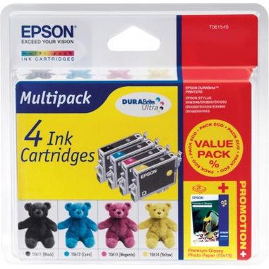 Epson Teddybear Multipack: 4 Ink Cartridges Originale