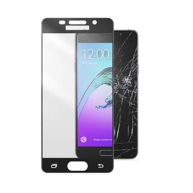 Cellularline Second Glass Capsule - Galaxy A3 (2016) Vetro temperato resistente con cornice Trasparente Nero