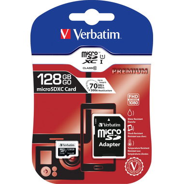 Verbatim Premium 128GB MicroSDXC UHS-I Classe 10 memoria flash