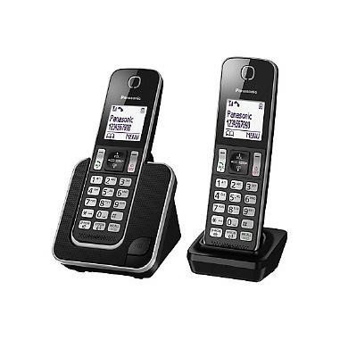 Panasonic KT-TGD312 Telefono DECT Nero Identificatore di chiamata