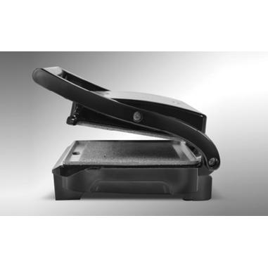 Bialetti BS10 Griglia di contatto Da tavolo Elettrico 1000W Nero, Acciaio inossidabile