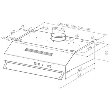 FABER TCH04 BK16A 741 Semintegrato (semincassato) Nero 160m³/h