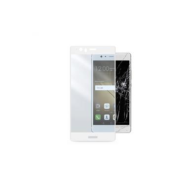 Cellularline Second Glass Capsule - P9 Plus Vetro temperato resistente con cornice Trasparente.Bianco