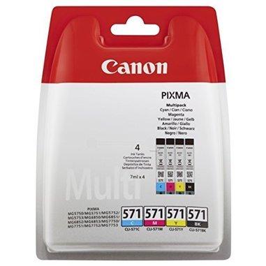 Canon CLI-571 Multipack 7ml 7ml Nero, Ciano, Magenta, Giallo cartuccia d'inchiostro