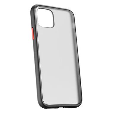 Cellularline Smoky Quartz - iPhone 11 Custodia rigida semi-trasparente con cornice in gomma Nero