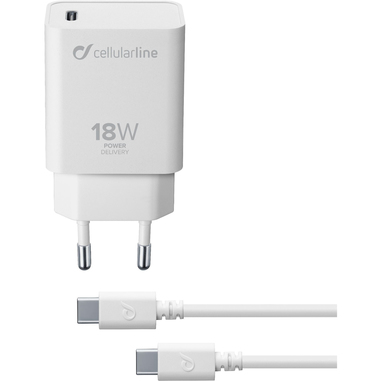 Cellularline USB-C Charger KIT PD 18W - IPAD PRO