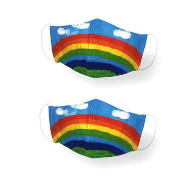 Kanguru Green Mask Set 2 pezzi Baby Rainbow
