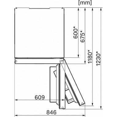 Miele KFN 29233 D edt/cs Libera installazione 361L A+++ Acciaio inossidabile