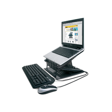 Hamlet XTMS100KM Tiramisù Notebook stand with keyboard and mouse Nero