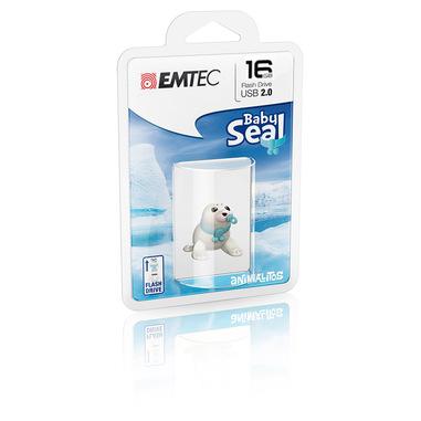 Emtec Baby Seal unità flash USB 16 GB USB tipo A 2.0 Blu, Bianco