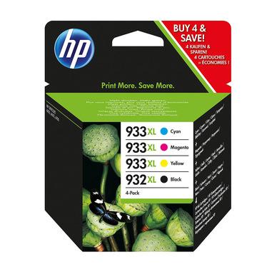 HP 932XL Black/933XL Cyan/Magenta/Yellow 4-pack Original Ink Cartridges cartuccia d'inchiostro 4 pz Originale Resa elevata (XL) Nero, Ciano, Magenta, Giallo