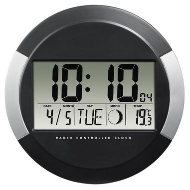 Hama PP-245 Orologio da parete digitale Cerchio Nero