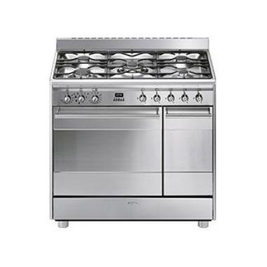 Smeg Concert SCB92MX8 cucina Piano cottura Gas Acciaio inossidabile A