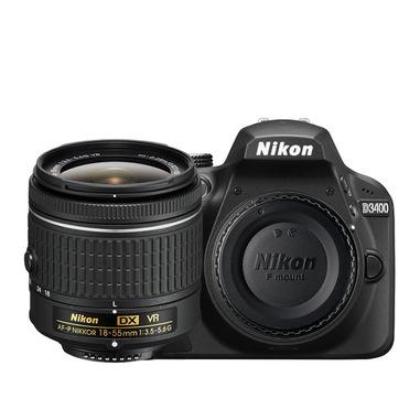 Nikon D3400 + 18-55mm VR + 8GB SD Kit fotocamere SLR 24,2 MP CMOS 6000 x 4000 Pixel