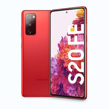 "Samsung Galaxy S20 FE , Display 6.5"" Super AMOLED, 3 fotocamere posteriori, 128 GB Espandibili, RAM 6GB, Batteria 4500mAh, Hybrid SIM, Red"